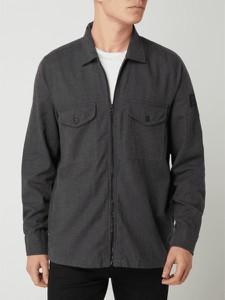 Koszula Hugo Boss z wełny z długim rękawem