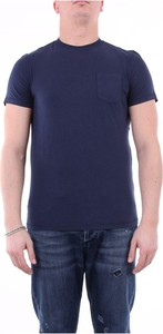 Niebieski t-shirt 40weft z krótkim rękawem w stylu casual