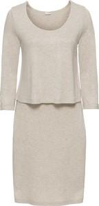 Sukienka bonprix BODYFLIRT z okrągłym dekoltem midi w stylu casual