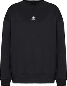 Czarna bluza Adidas w sportowym stylu krótka