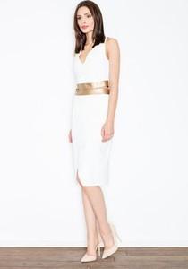 Sukienka Figl midi z dekoltem w kształcie litery v