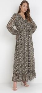 Sukienka born2be maxi z długim rękawem