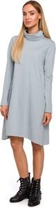 Sukienka Merg w stylu casual z długim rękawem z golfem