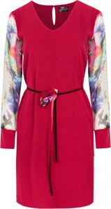 Sukienka ELEONORA PORTERA mini z szyfonu z długim rękawem