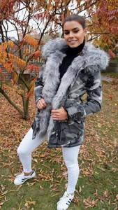 Kurtka Ricca Fashion w militarnym stylu