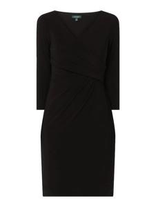 Czarna sukienka Ralph Lauren mini w stylu casual z długim rękawem