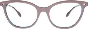 Różowe okulary damskie Ray-Ban w stylu glamour ze skóry