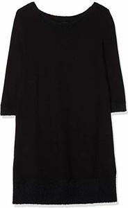 Sukienka amazon.de z okrągłym dekoltem z długim rękawem koszulowa