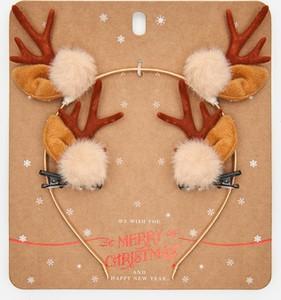 Cropp - Świąteczny opaska ze spinkami - Brązowy