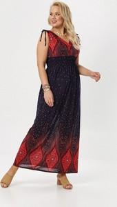 Granatowa sukienka born2be prosta