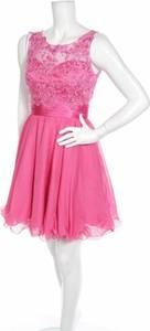 Różowa sukienka Neblon