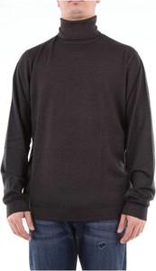 Czarny sweter Fedeli w stylu casual z wełny