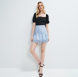 Niebieska spódnica Mohito mini
