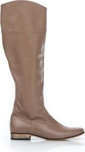 Kozaki Zapato za kolano w stylu klasycznym z nubuku