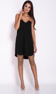 Czarna sukienka Dursi mini oversize