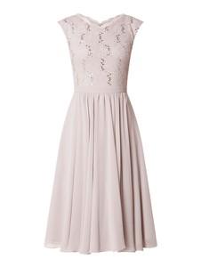 Sukienka Swing rozkloszowana z szyfonu