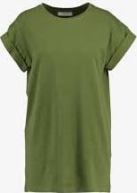 Zielona bluzka Moss Copenhagen z krótkim rękawem