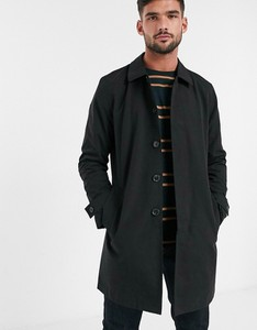 Czarny płaszcz męski Burton Menswear