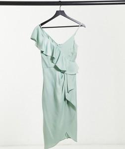 Zielona sukienka Lipsy z dekoltem w kształcie litery v