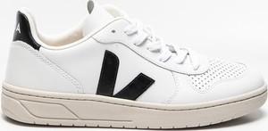 Buty sportowe Veja sznurowane ze skóry