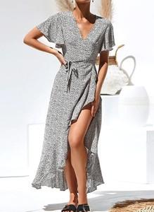 Sukienka Cikelly z krótkim rękawem maxi kopertowa