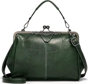 Zielona torebka Cikelly w stylu retro na ramię