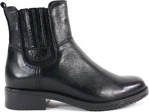 Czarne botki Acord w stylu casual ze skóry