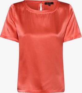 Czerwona bluzka SvB Exquisit z okrągłym dekoltem z jedwabiu