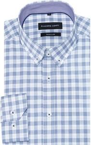 Niebieska koszula giacomo conti z tkaniny