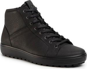 Czarne buty zimowe Ecco sznurowane