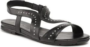 Czarne sandały Lasocki w stylu casual z klamrami ze skóry