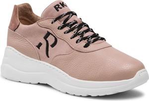 Buty sportowe Ryłko ze skóry z płaską podeszwą w sportowym stylu