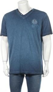Niebieski t-shirt Lerros z krótkim rękawem