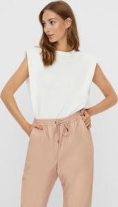 Bluzka WARESHOP w stylu casual z krótkim rękawem z bawełny