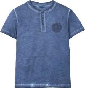 Niebieska koszula bonprix John Baner JEANSWEAR w stylu casual z krótkim rękawem
