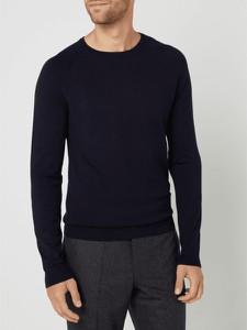 Granatowy sweter Montego w stylu casual