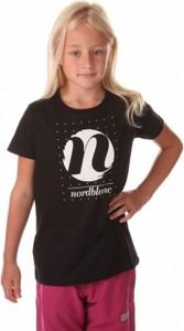 Czarna koszulka dziecięca NORDBLANC