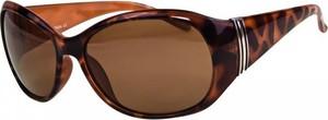 Brązowe okulary damskie Stylion