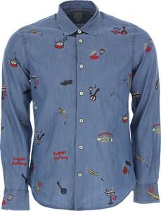 Niebieska koszula Paul Smith w młodzieżowym stylu z bawełny
