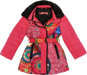 Różowy płaszcz dziecięcy Desigual