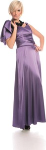 Fioletowa sukienka Fokus gorsetowa z dekoltem w kształcie litery v