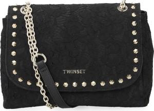 Czarna torebka Twinset na ramię