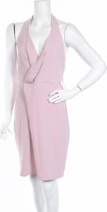 Różowa sukienka Anna Field bez rękawów z dekoltem w kształcie litery v