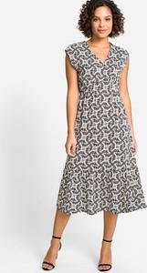 Sukienka Olsen w stylu casual midi z krótkim rękawem