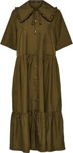 Zielona sukienka Selected Femme w stylu casual koszulowa