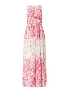 Różowa sukienka Swing z szyfonu bez rękawów
