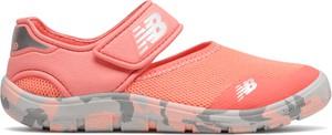 Pomarańczowe buty sportowe dziecięce New Balance na rzepy