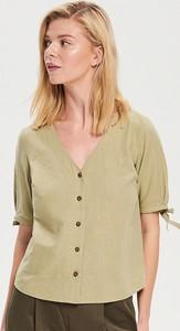 Zielona bluzka Reserved z krótkim rękawem