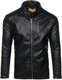 Czarna kurtka denley w stylu casual