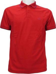 Czerwona koszulka polo Sun 68 z krótkim rękawem w stylu casual